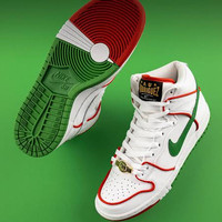 Sepatu Nike SB Dunk High Paul Rodriguez Red Green Mexican Original