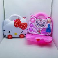Mainan koper make up hello kitty frozen princess kalung anting tas dre