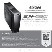 CASING PC CPU CASE MINI SLIM ENLIGHT EN 120 INCLUDE PSU POWER SUPPLY