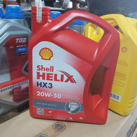 oli shell helix hx3 SE 20w 100% ori 50 4L active cleansing technology