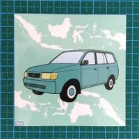 WAM's Artbox Edition 1 Sticker - Toyota Kijang Kapsul of Nusantara
