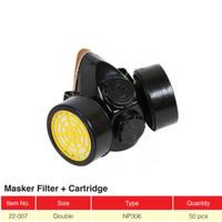 Masker Respirator Anti debu gas beracun asap double filter Np 306