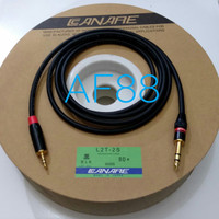 Kabel audio jack akay stereo 6,5mm to jack stereo 3.5mm 2mtr full