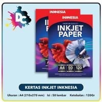 Kertas Inkjet / Inkjet Paper Inknesia A4 120gr isi 50 Lembar - 110gr