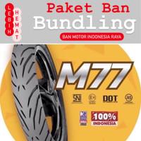 Paket Ban Motor MIZZLE M 77 ( M77 ) 80/80-16 dan 90/80-16 Tubeless