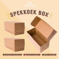 Kotak/Dus Kue Lapis/Roll Cake/Bolu bahan Kertas/ECO Kraft Spekkoek Box