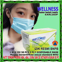 Masker Wellness 3 ply isi 50 pcs