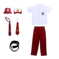 Setelan Seragam Sekolah SD Laki laki| Baju Kemeja Putih | Celana Merah