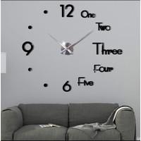Jam Dinding Besar DIY Giant Wall Clock Underline & Angka 70-90 cm