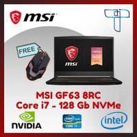 Laptop Gaming MSI GF63 8RC - Core i7 -128 Gb NVMe