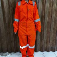 Baju kerja / Wearpack Safety / Seragam Kerja / coverall proyek ORANGE