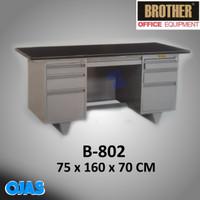 Meja Kantor Kerja Tulis Besi Full 1 Biro Brother B802