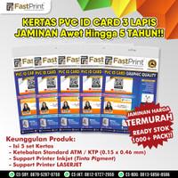 Lembaran Kertas PVC Bahan ID Card Fast Print A4 1 Pack isi 5 Set