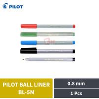 Pulpen Ballpoint Pen Pilot Ball Liner Medium BL-5M 0.8 mm 1 Pcs