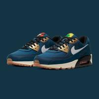 Sepatu Nike Air Max 90 City Pack Tokyo Blue - Premium Import
