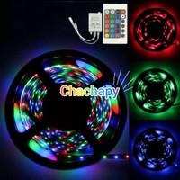 Lampu led strip 3528 RGB warna warni IP44 5m AC 220V