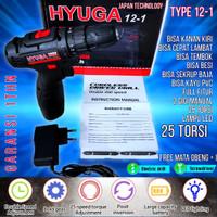 uchiha 15vf mesin bor baterai cordless drill charger tembok besi kayu