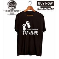 Kaos Baju EASY GOING TRAVELER Pendaki Gunung simply adventure - Gilan