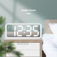 Jam Meja Digital Led Weker / Digital Alarm Clock Mirror DT 6508 WHITE