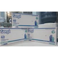 Gloves sensi latex handscoon box isi 60 sarung tangan