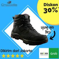 Sepatu Boots Pria Safety Crocodile Armour Kerja Proyek Hiking Outdoor