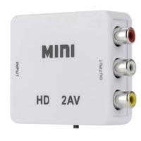 HDMI 2AV HDMI to AV / RCA converter Adapter Box