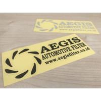 Sticker AEGIS FILTER warna hitam / putih