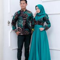 baju kemeja batik pnjang couple.baju cople .batik couple