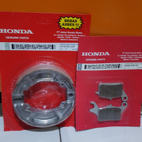Kampas rem paket/set motor honda beat /beat fi /vario /spacy kvb kzl