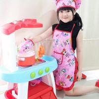 Apron Celemek Anak | Apron Anak 1 set | Kostum Profesi Anak