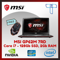 Laptop Gaming MSI GP62M 7RD - 426 - Core i7 - 128Gb SSD, 2Gb RAM - DOS