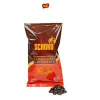 Dark Chocolate Compound Coin 1kg SCHOKO / cokelat dark coin / blok