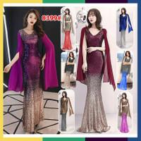 8399Longdress Gliter Shining Import/Baju Pesta/ Baju Nyanyi/Dress
