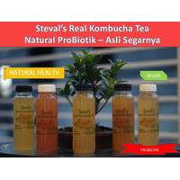Kombucha Teh Fermentasi Kesehatan Rasa Jeruk Mandarin|Nampol Segarnya