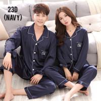 Baju tidur couple pasangan KOREAN STYLE bordiran piyama setelan 23D-23