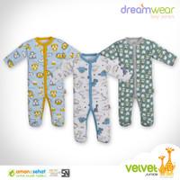 VELVET Dreamwear Sleepsuit isi 3pcs Jumper Baju Tidur Bayi Sleep Suit