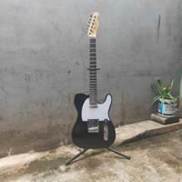 Gitar Elektrik Fender Telecaster custom Hitam gloss cocok utk rock pop