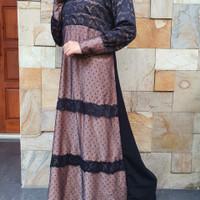 Abaya Turkey Gamis Hitam Arab Arishanty Pakaian Wanita Muslim Syari - S