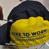 topi sepeda bike to work brompton cycling cap - brompton