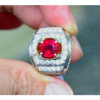 Natural Batu Ruby Top Quality - Luster Josss - Pigeon Blood Red