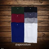 Baju Kaos Katun Cotton Combed 24s Polos Unisex Premium Gramasi 190-200