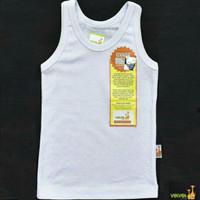VELVET JUNIOR Singlet (0-12 M) / Kaos Dalam Putih Bayi / Baju Bayi