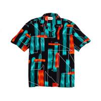 Kemeja Pria Motif Retro Graphics Hawaii Shirt Lengan Pendek - M