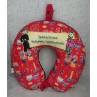 bantal leher yelvo printing plus kancing souvenir custom
