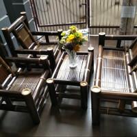 satu set bangku bambu free ongkir jabodebek
