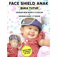 Face Shield bayi baby newborn anak buka tutup