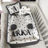 Baby nest bayi bordir nama - tempat tidur bayi - kasur set bayi