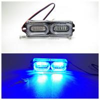 1 pc Lampu led kedip strobo 12 mata variasi led motor mobil
