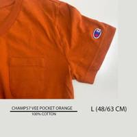 Baju Branded Unisex - CHAMPION 57 VEE POCKET ORANGE