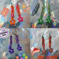 Anting rantai handmade | vintage chain star earrings tumblr aesthetic